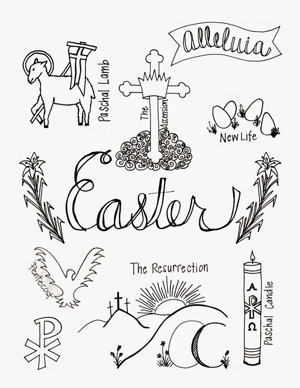 Catholic Easter Colouring Pictures 12