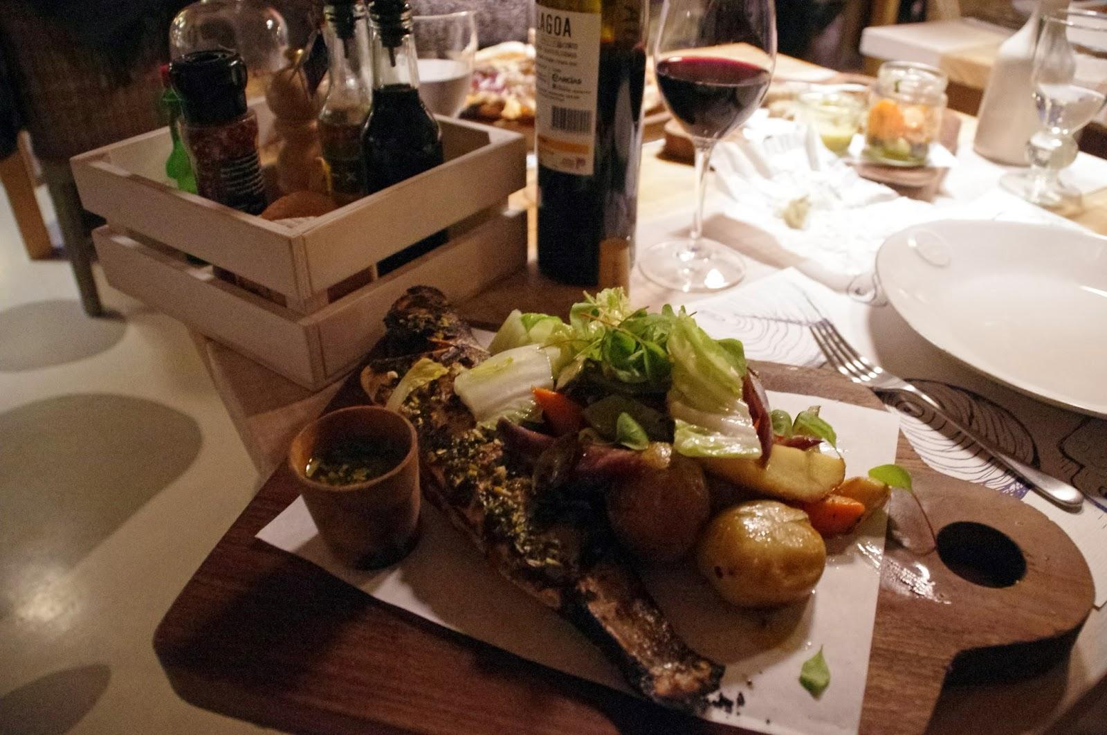 Seafood main at Vila Monte Farm House Portugal À Terra Restaurant