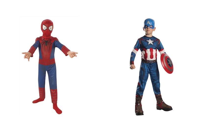Superhéroes Spiderman y Capitán América