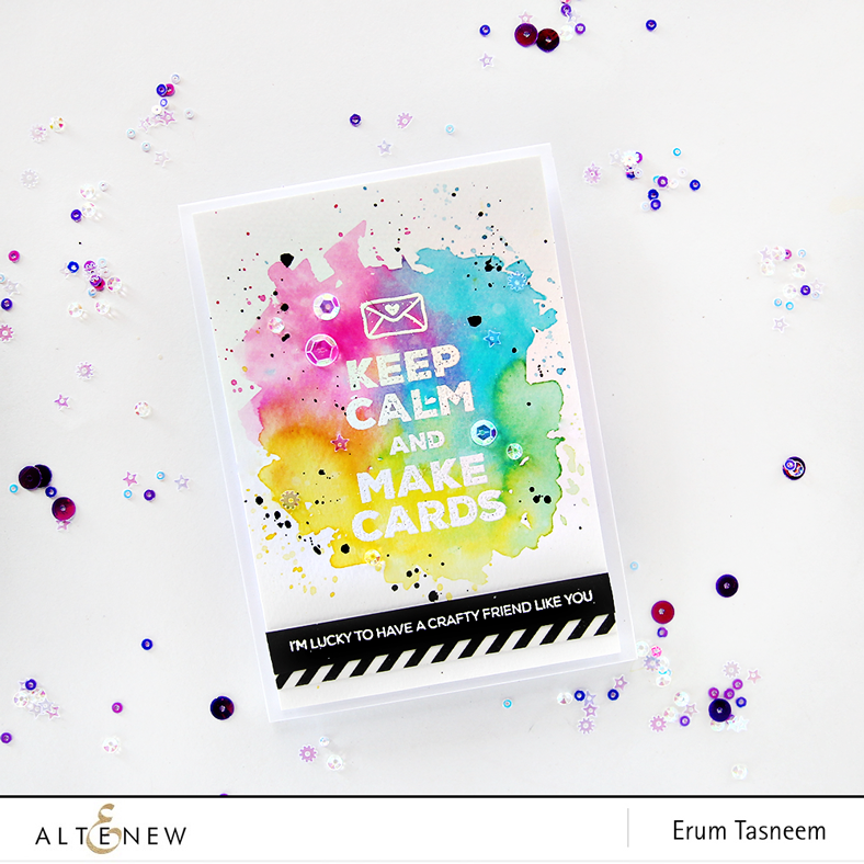 Altenew Crafty Friends stamp set, card by Erum Tasneem - @pr0digy0