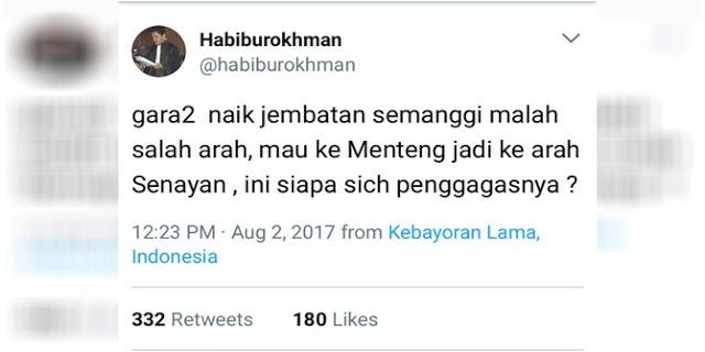 Jalan keluar kocak Sekda DKI buat Habiburokhman yang nyasar di Semanggi