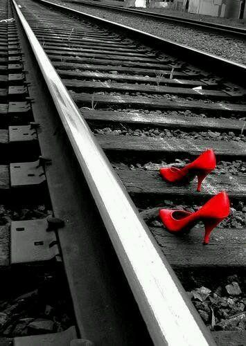 zapatos rojos para oficina