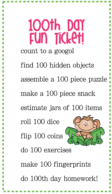 Similiar 100 Days Of School Activities For First Grade Keywords