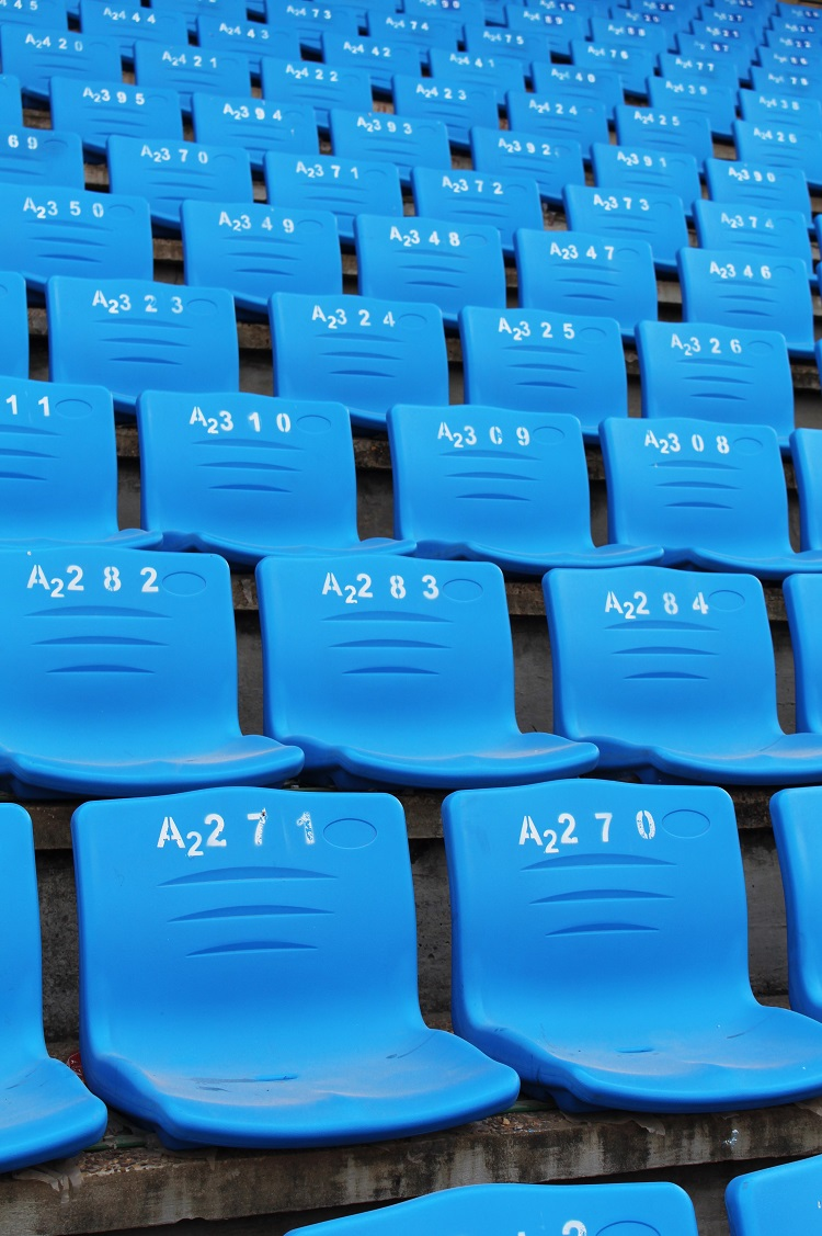 Chairs at the Olympic Stadium, Phnom Penh, Cambodia - travel blog