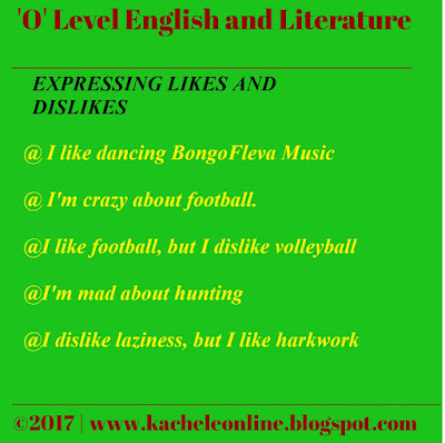 Technical Skills of Teaching 'EXPRESSING LIKES AND DISLIKES' in Form One