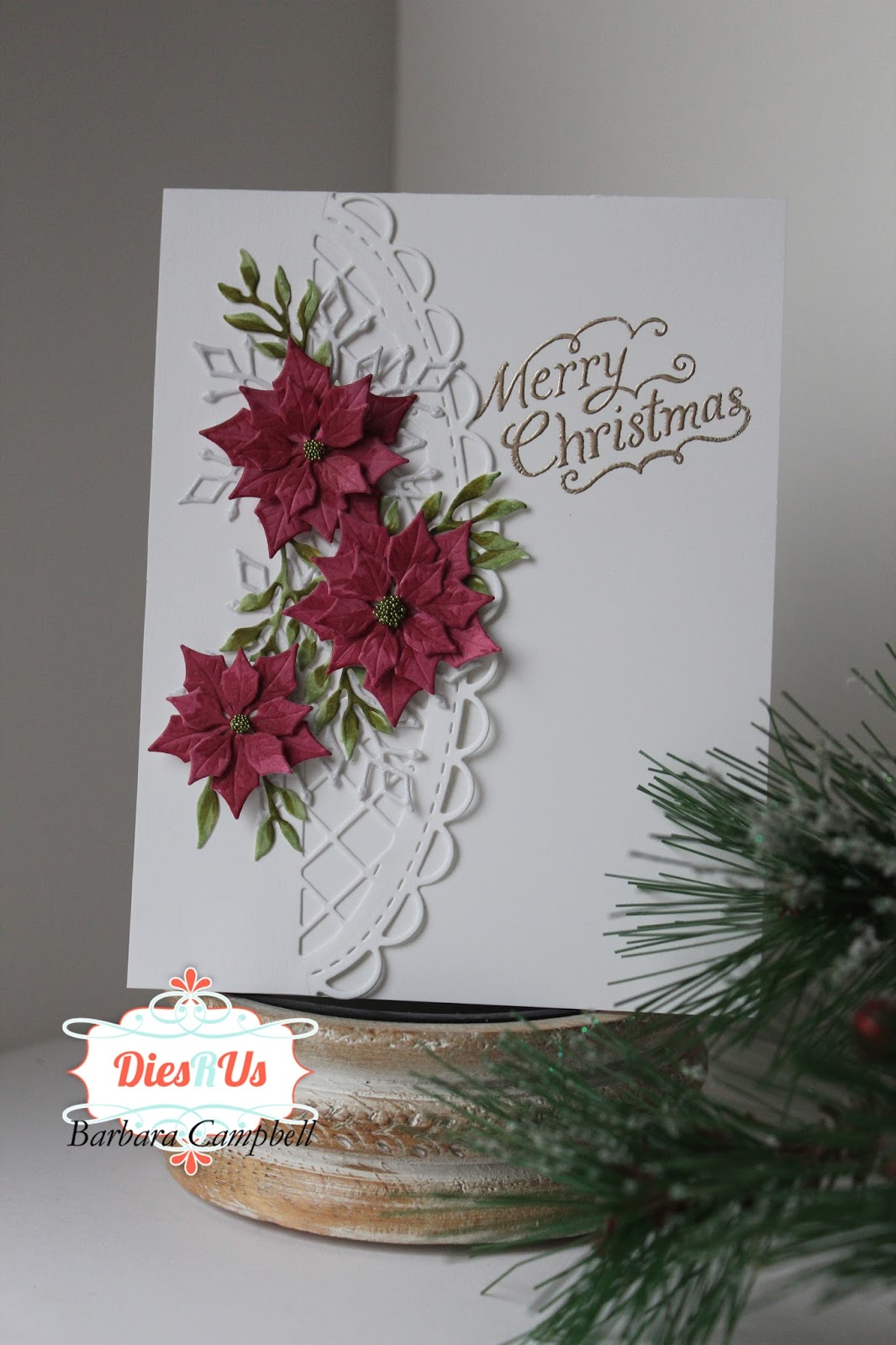 CHRISTMAS Dies DETAILED POINSETTIA /& LEAVES Stunning for Holiday cards Sizzix