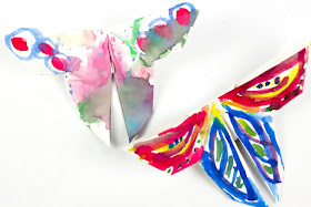 How to make GIANT, pretty, painted origami butterflies with the kids for spring