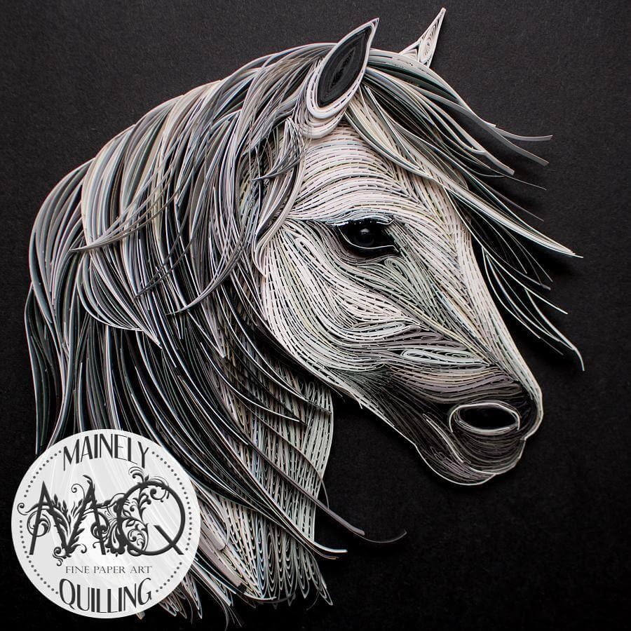 03-Gray-Horse-Stacy-Bettencourt-Quilling-Animals-and-Game-of-Thrones-www-designstack-co