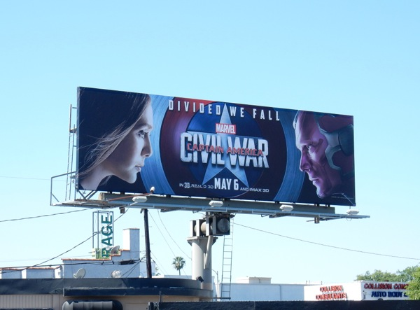 Captain America Civil War Scarlet Witch Vision billboard