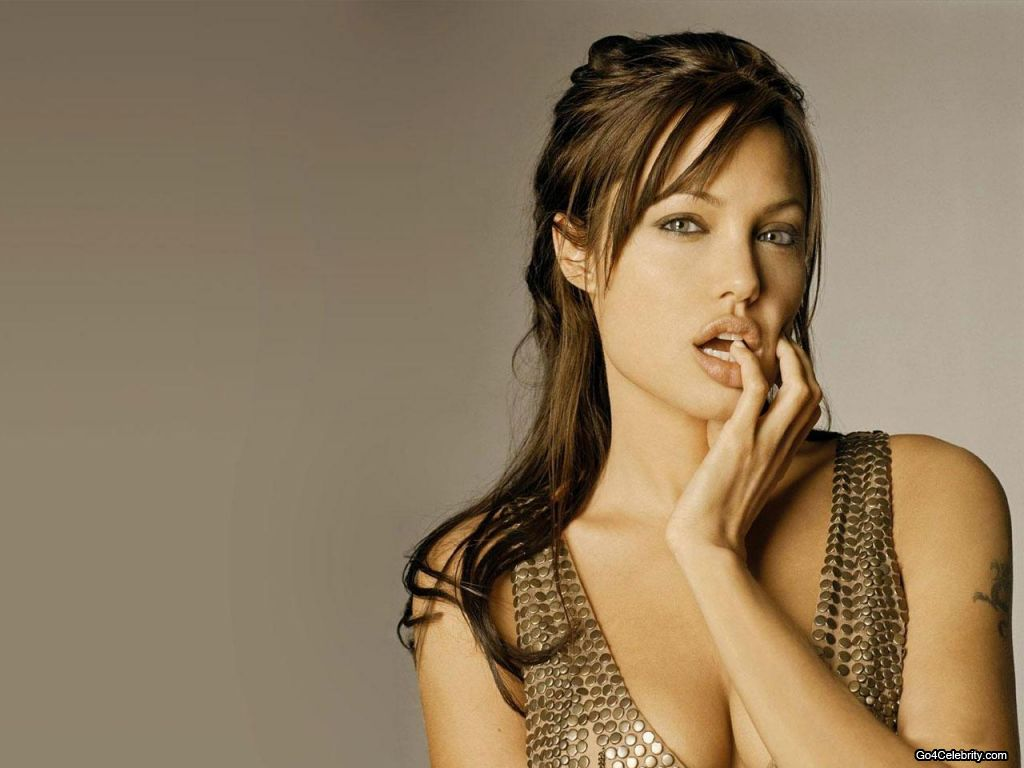 Hollywood Actress Angelina Jolie Sexy Wallpapers-8334
