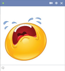 emoticon Facebook menangis