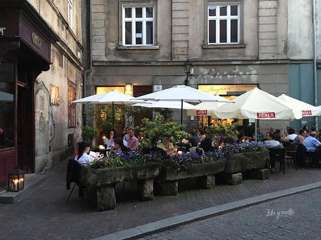 Cracovia fotos terraza en la calle Tomasza