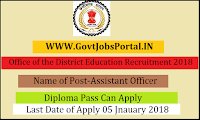 Chhattisgarh Office of the District Education Recruitment 2018– 41 Assistant