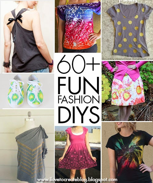 iLoveToCreate Blog: 60+ Fun Fashion DIYs from the ...