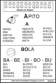 Fichas de leituras letras A-B