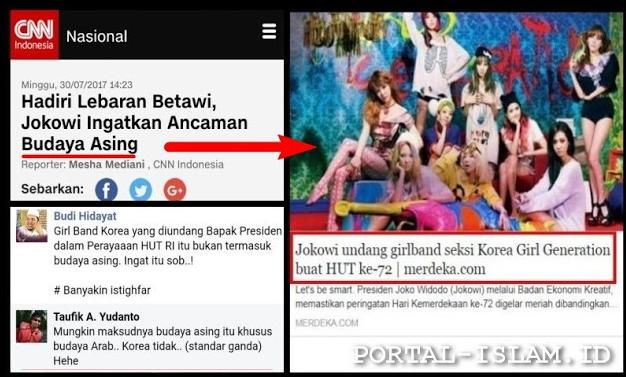jokowi ingatkan ancaman budaya asing tapi kok malah undang