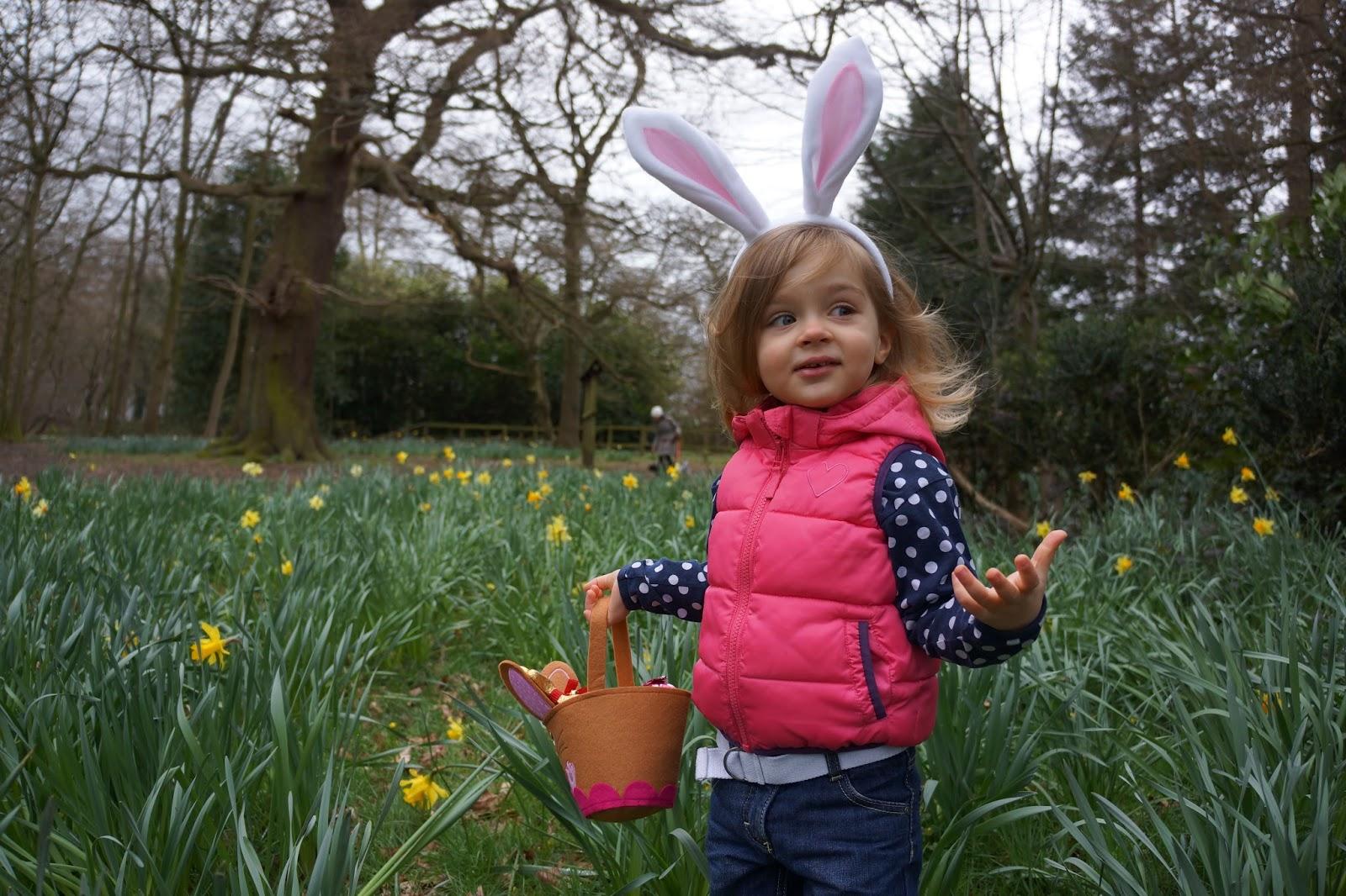 toddler bunny easter egg hunt