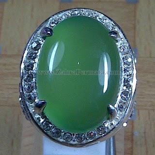 Cincin Batu Green Chalcedony + Memo - ZP 970