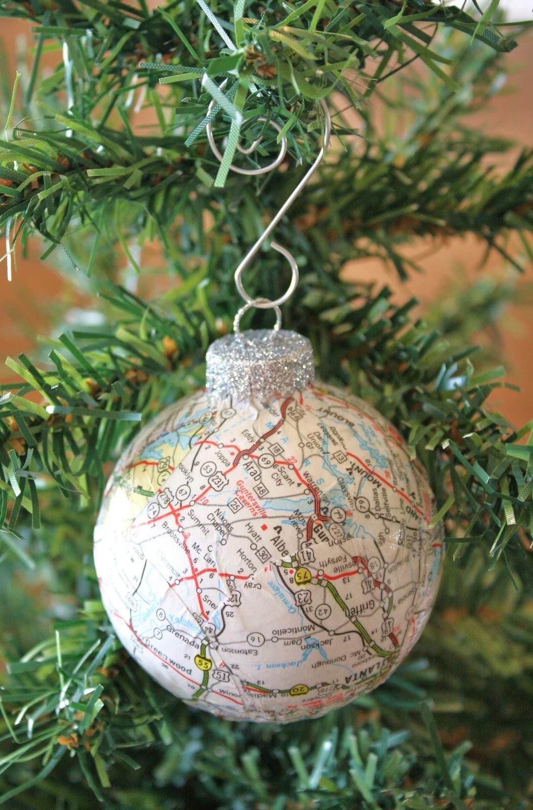 Decoupaged Ball Ornament