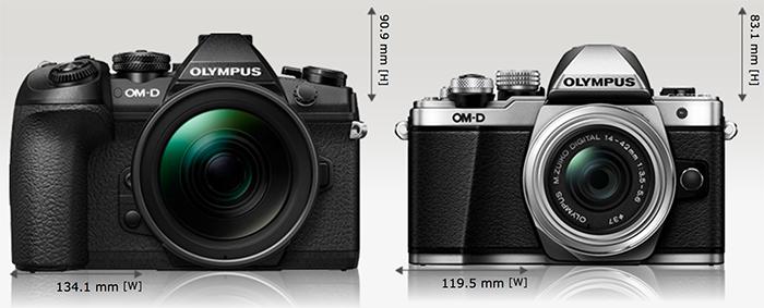 Сравнение Olympus E-M1 Mark II и E-M10 Mark II