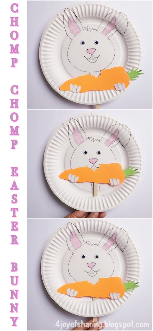 Paper Plate Craft Easter Craft Easter Bunny Craft Chomp