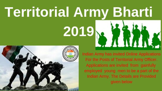 JOIN INDIAN ARMY APPLY FORM [Territorial Army Bharti 2019]