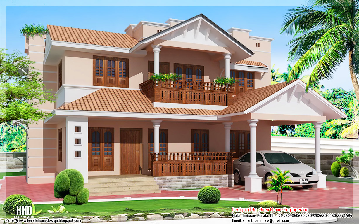 1900 kerala style 4 bedroom villa kerala home for Veedu elevation