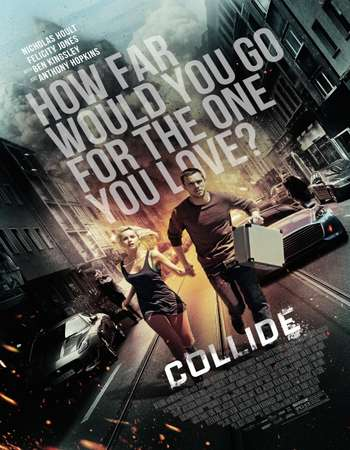 Poster Of Collide 2016 English  300MB  720p HEVC Free Download Watch Online 300Mb.cc