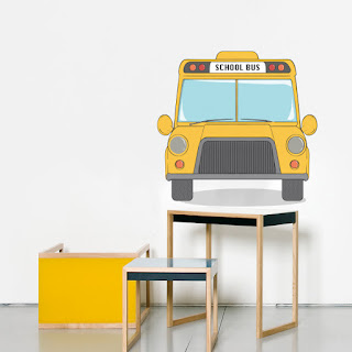 Children's room, children's room theme, children's bunk bed, school bus, pencil case, children's room frame, children's room decoration ideas, children's room decorations, toy boxes, food boxes, wall stickers, children's library, children's table,