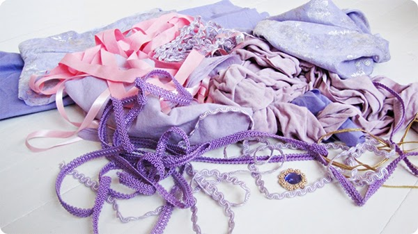 Purple ribbons and trims