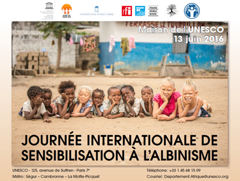 "photoreport ""White Ebony"" at Unesco in Paris to celebrate   the second International ,Albinism Awareness Day, , June 13th 2016,willocq patricia, paris, unesco"