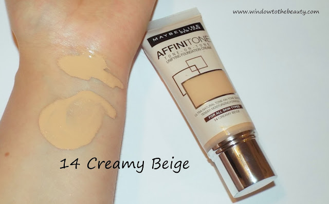 Maybelline Affinitone  creamy beige