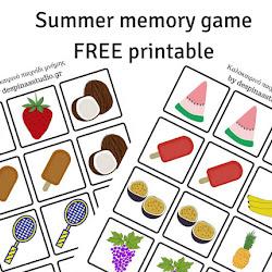 aecd55ec237 ... Καλοκαιρινό παιχνίδι μνήμης ΔΩΡΕΑΝ εκτυπώσιμο Summer memory game FREE  printable
