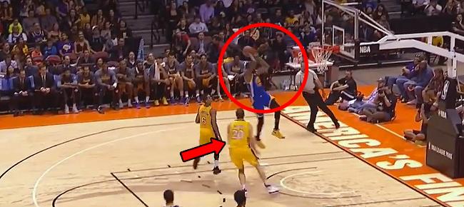 Timofey Mozgov's MONSTER Block On Kevin Durant's Alley-Oop! (VIDEO)