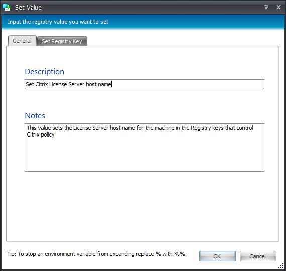 Applying Citrix Policies through AppSense Environment