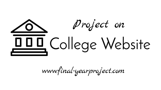 Project Report on College Website