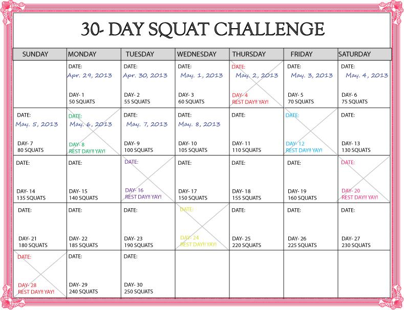 30 Day Calendar Template Roho4senses