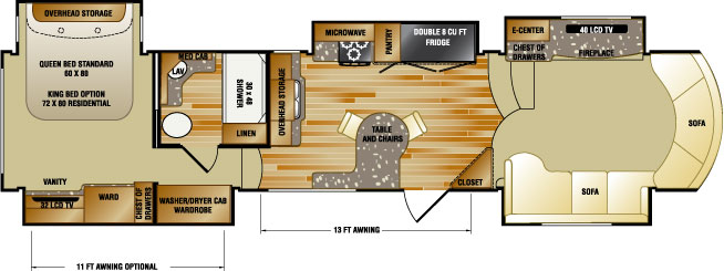 Rushmore 5th wheels floorplans - Front living room fifth wheel used ...