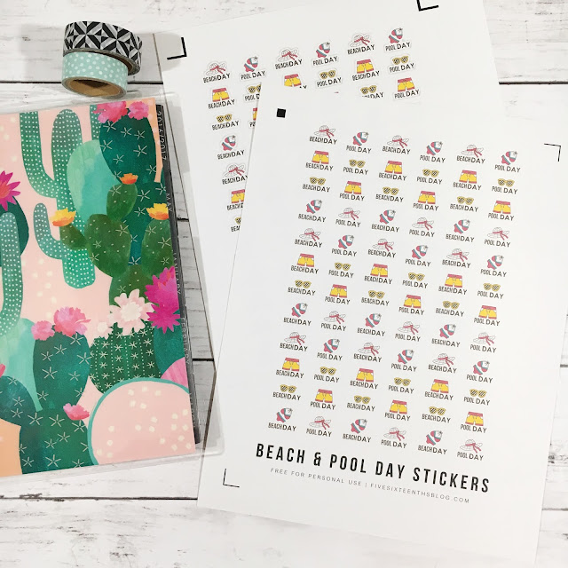 Printable Beach Day Stickers
