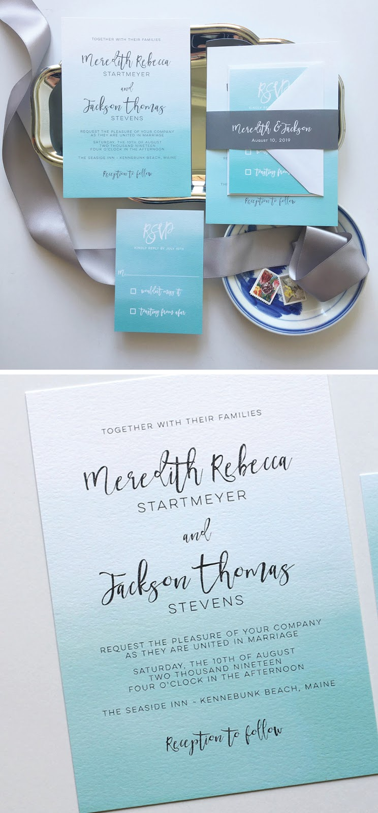 Ombre Wedding Invitations | Blush Paperie