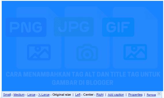 Menambahkan Tag Alt Dan Title Tag Untuk Gambar Di Blogger