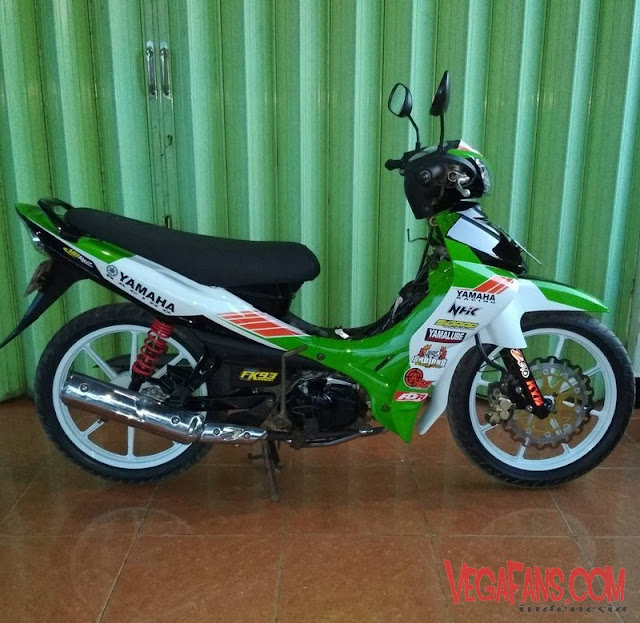 Modifikasi Jupiter Z Hijau Road Race Simple