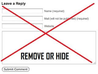 Làm thế nào để xóa khung bình luận mặc định Blogspot