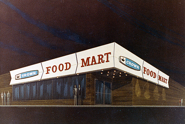 Doctor Ojiplatico.Roadsidepictures. Illustrated Supermarket Signage.Vintage Supermarkets, Grocery & Convenience Stores