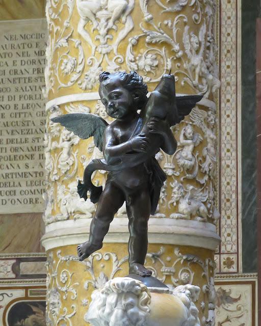 Copy of Putto con delfino, Putto with Dolphin, by Andrea del Verrocchio, Palazzo Vecchio, Piazza della Signoria, Florence,