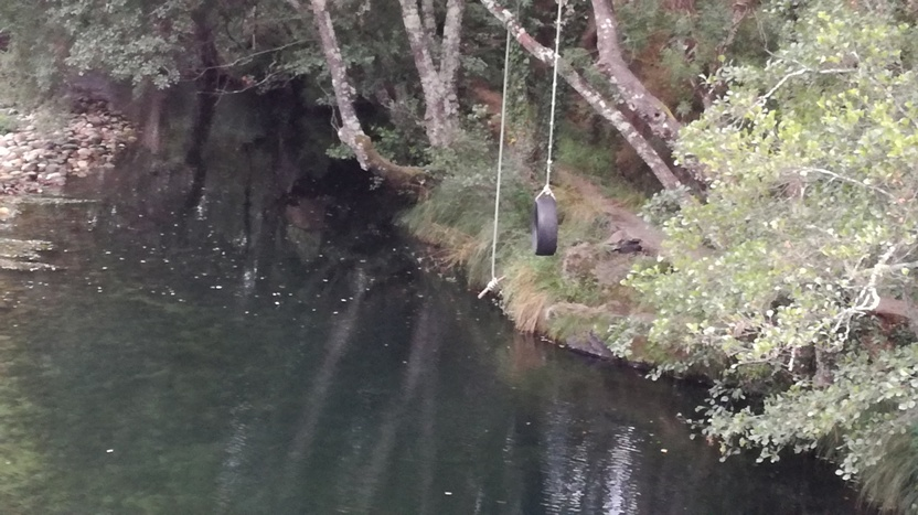 Zona de saltos para a água