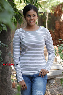 Tamil Actress Chandini Tamilarasan Latest Pos in Ripped Jeansat Ennodu Vilayadu Press Meet  0032.jpg