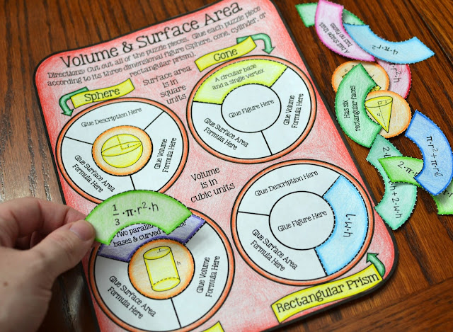 Volume and Surface Area Activity (Great for interactive notebooks)