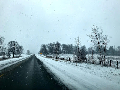 April 8, 2018 Driving through snow to say goodbye to a beloved Aunt.