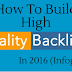 How to Build High-Quality Backlinks in 2016 (Infographic)